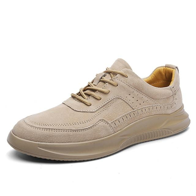 LovelyMs Men's Breathable Suede Leather Casual Shoes