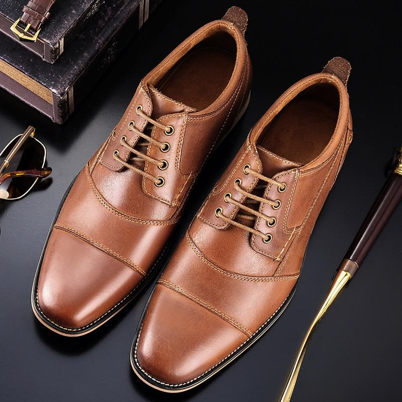 LovelyMs Genuine Leather Dress Shoes Business Formal Shoes LS9278