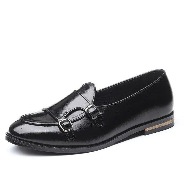 Leather Men Vintage Business Casusal Elegant Casual British Style Flats Shoes