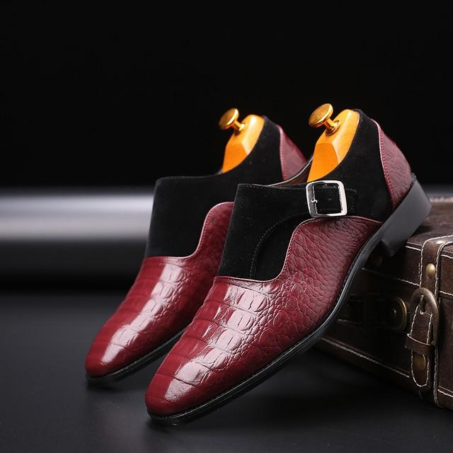 LovelyMs Patchwork Leather Gentleman Fashion Leather Shoes