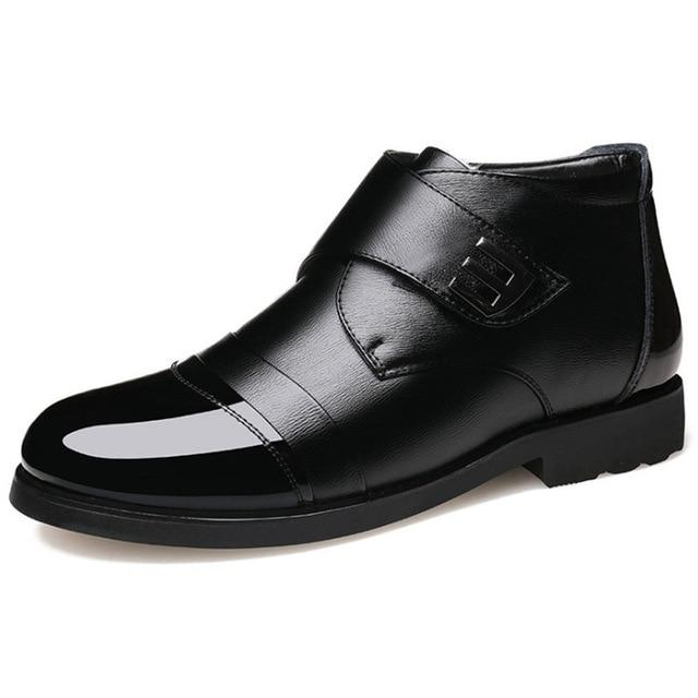 LovelyMs Men Genuine Leather Warm Ankle Boots