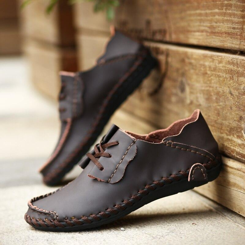 LovelyMs Men Casual Shoes Luxury Brand Leather Driving Shoes QAF824
