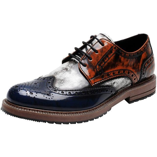 Men's Prince Classic Wingtip Formal Oxford Brogue Shoes