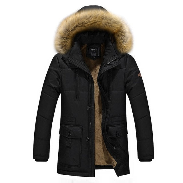 Winter Warm Thickening Long Parkas In Wool Cotton-Padded