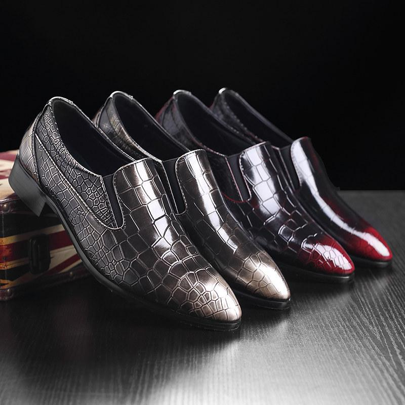 LovelyMs Pattern Business Pointy Casual Shoes