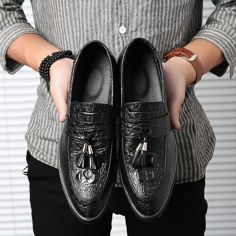 LovelyMs Fashion Soft Leather Casual Male Business Shoes