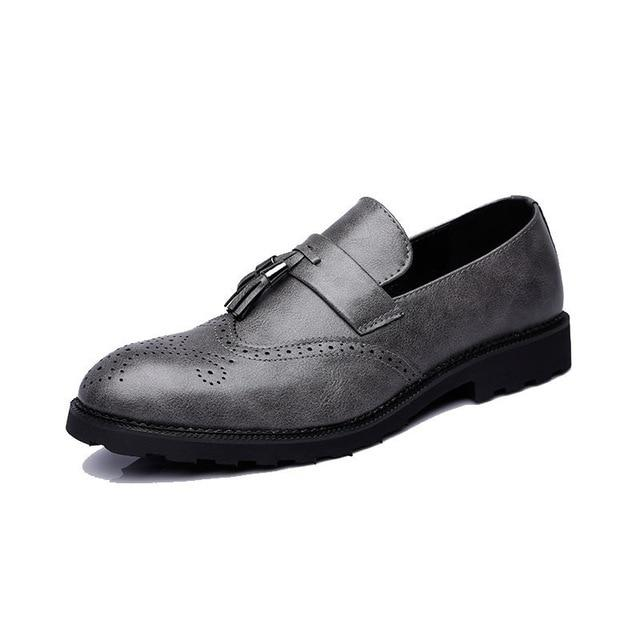 LovelyMs Fashion Oxfords Men Soft Leather Casual Shoes