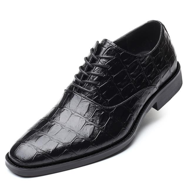 LovelyMs Fashion Men Lace-up Business Casual Leather Shoes