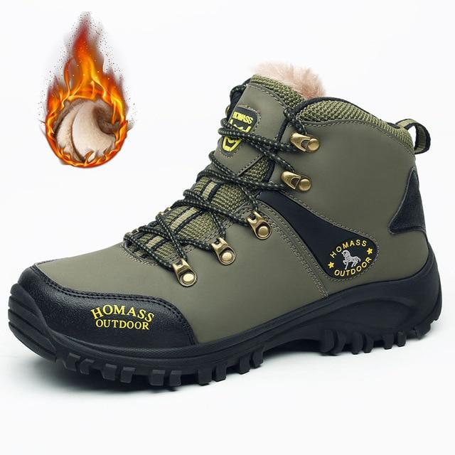 Outdoor Winter Hiking Waterproof Leather Ankle Boots