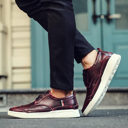 High Quality Men Leather Casual Fashion Sneakers