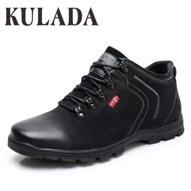 Men's Zipper Side Top Quality Lace-up Casual Boots