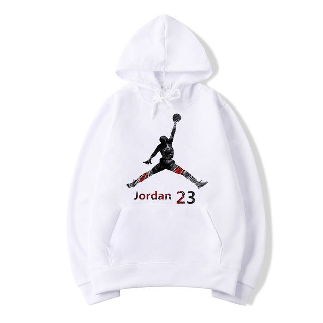 High Quality Jordan 23 Letter Print Hooded Sweatshirt Men/women Hoodies