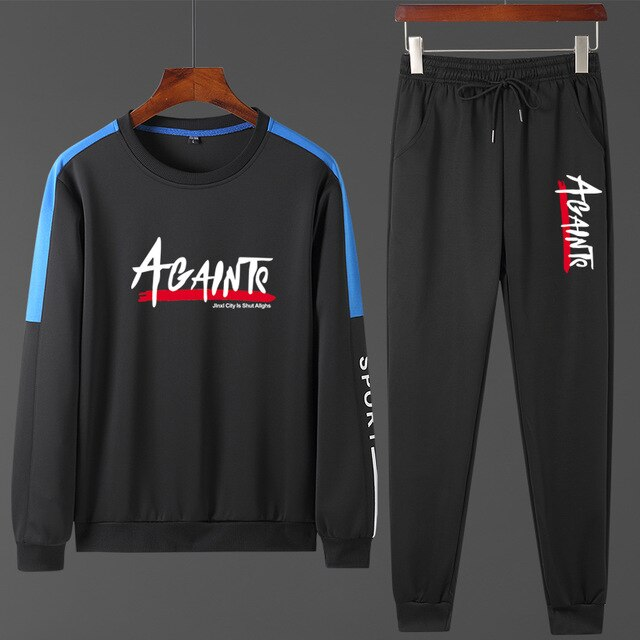 New Men's Set Spring Autumn Man Sportswear 2 Piece Sets