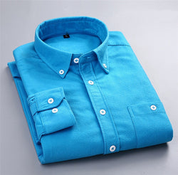 Men's Casual Long Sleeve Blouse Shirt Button Down Shirts