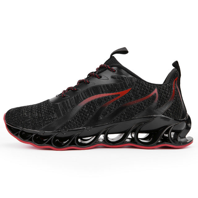 Outdoor Men Jogging  Lace-up Athietic Breathable Blade Sneakers