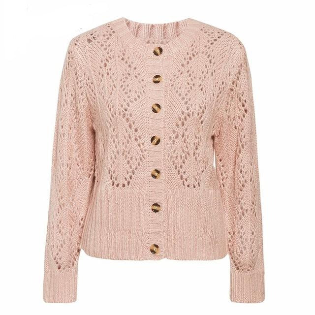 100% Pure Wool Ladies Knitted Cardigan
