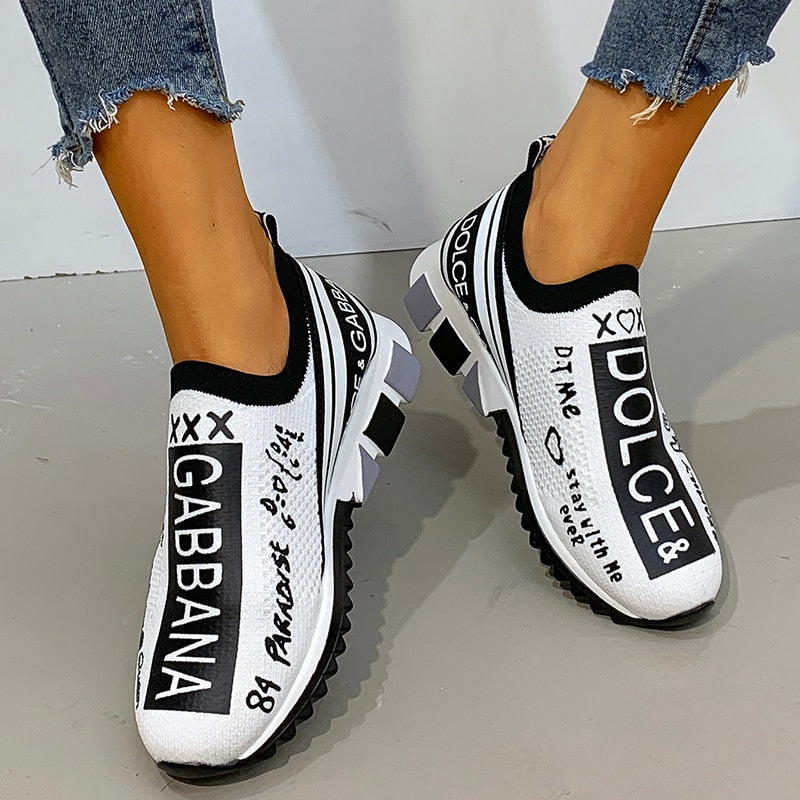 Designer Casual Shoes Unisex Slip-On Sock Sneakers