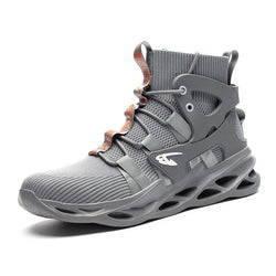New Men's High-top Anti-smashing Safety Shoes