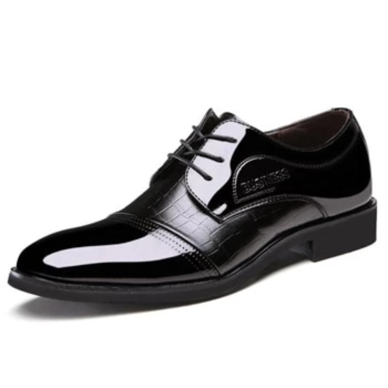 LovelyMs Shiny Oxfords Microfiber Men Lace Up Fashion Formal Shoes