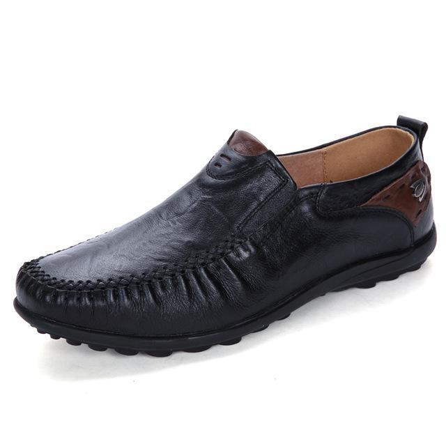 Plus Size Breathable Hollowed Soft Mocassins Slip on Men's Casual Shoes