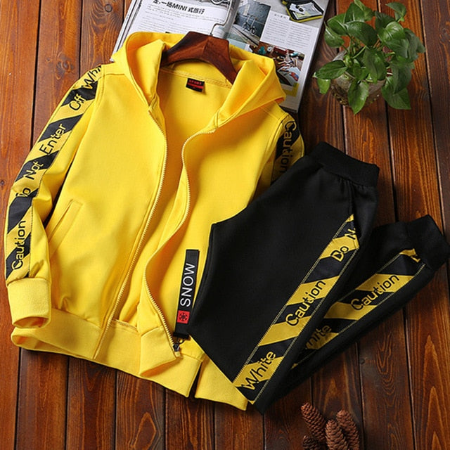 Men Sportswear Two Piece Set Tracksuit