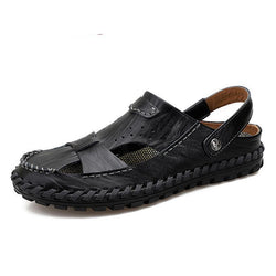Fashion Breathable Big Size Genuine Leather Men's Sandals