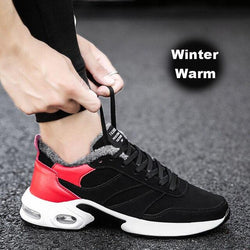 LovelyMs Running Sneakers With Fur Male Trainers Plush Warm Shoes