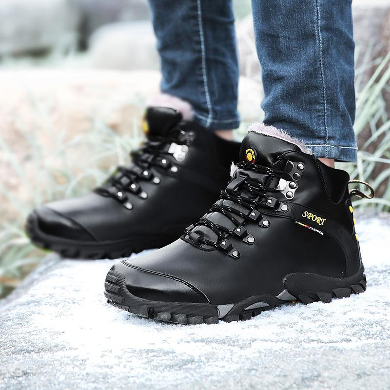 Men's High-top Winter Boots Brand Warm Sports Running Hiking Shoes