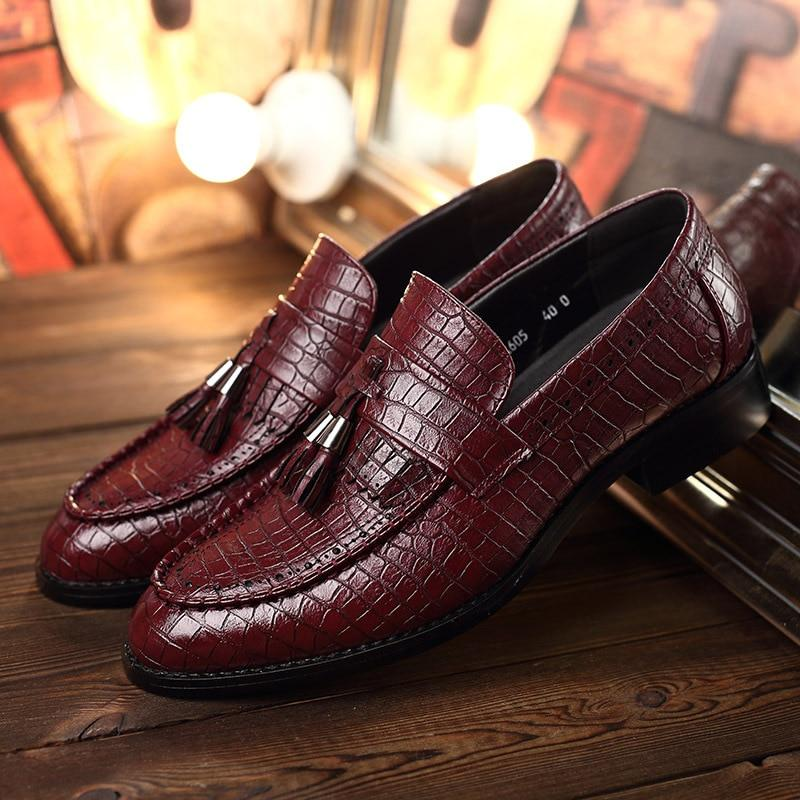 LovelyMs Tassel Soft Leather Business Comfortable Men's Causal Shoes