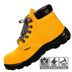 Men Industrial & Construction Electrician Puncture Proof Steel-toe Safety Work Shoes