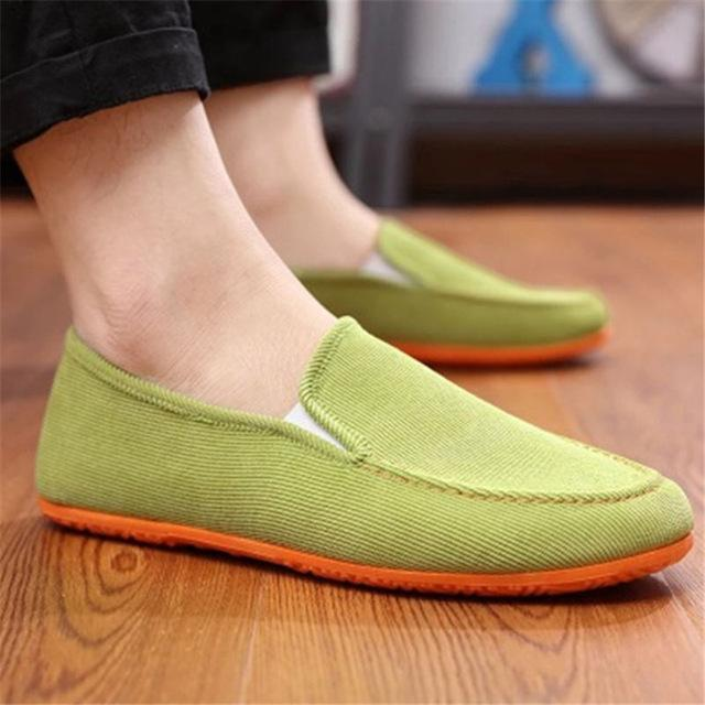 Men Breathable Comfortable Lightweight Flats Slip-on Shoes