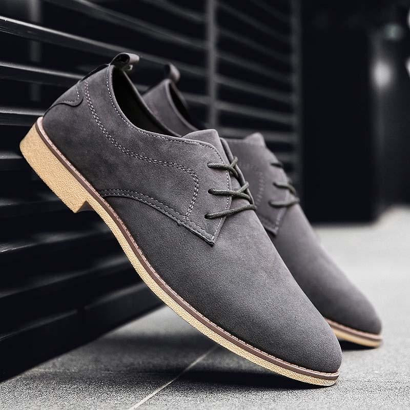 LovelyMs Suede Mans Oxfords Drive Shoes Moccasins