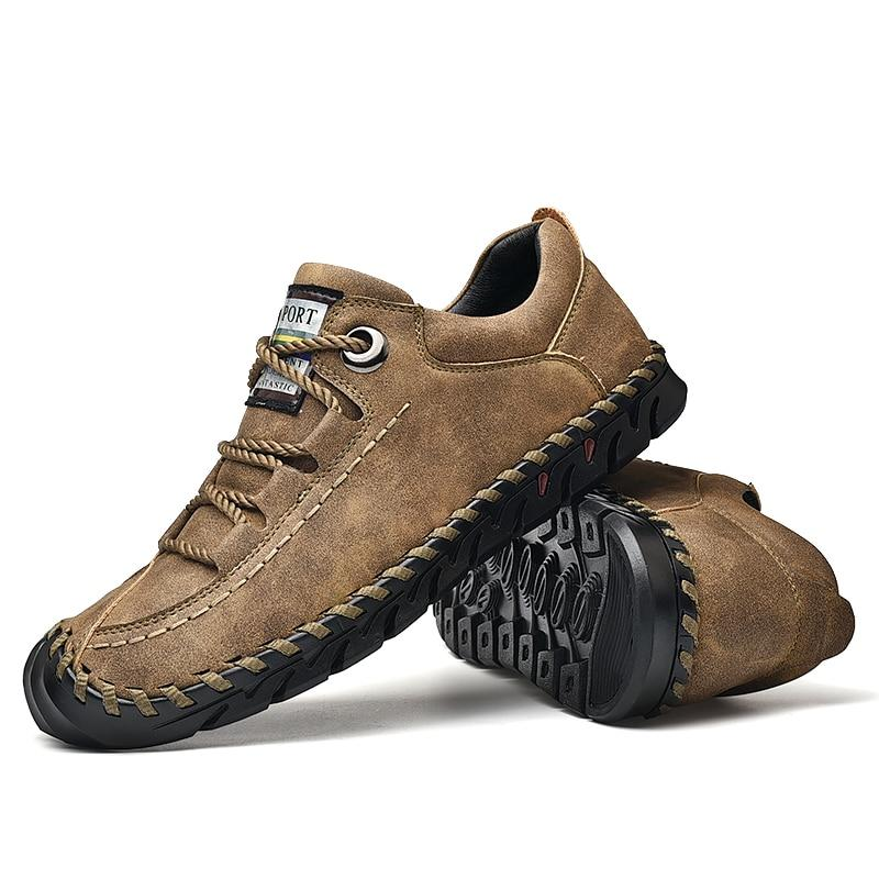 LovelyMs Genuine Leather Lace-up Man Outdoor Casual Shoes