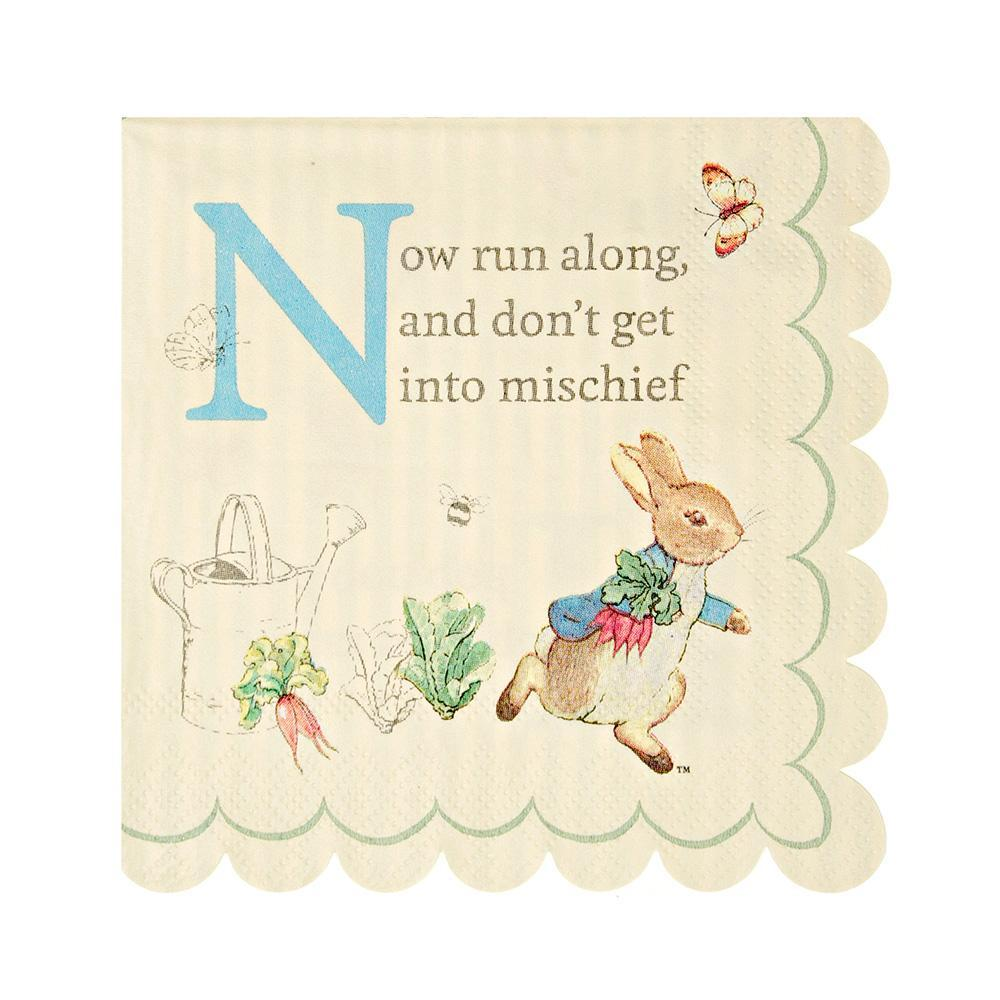 Peter Rabbit Napkins Small (20 Pack)