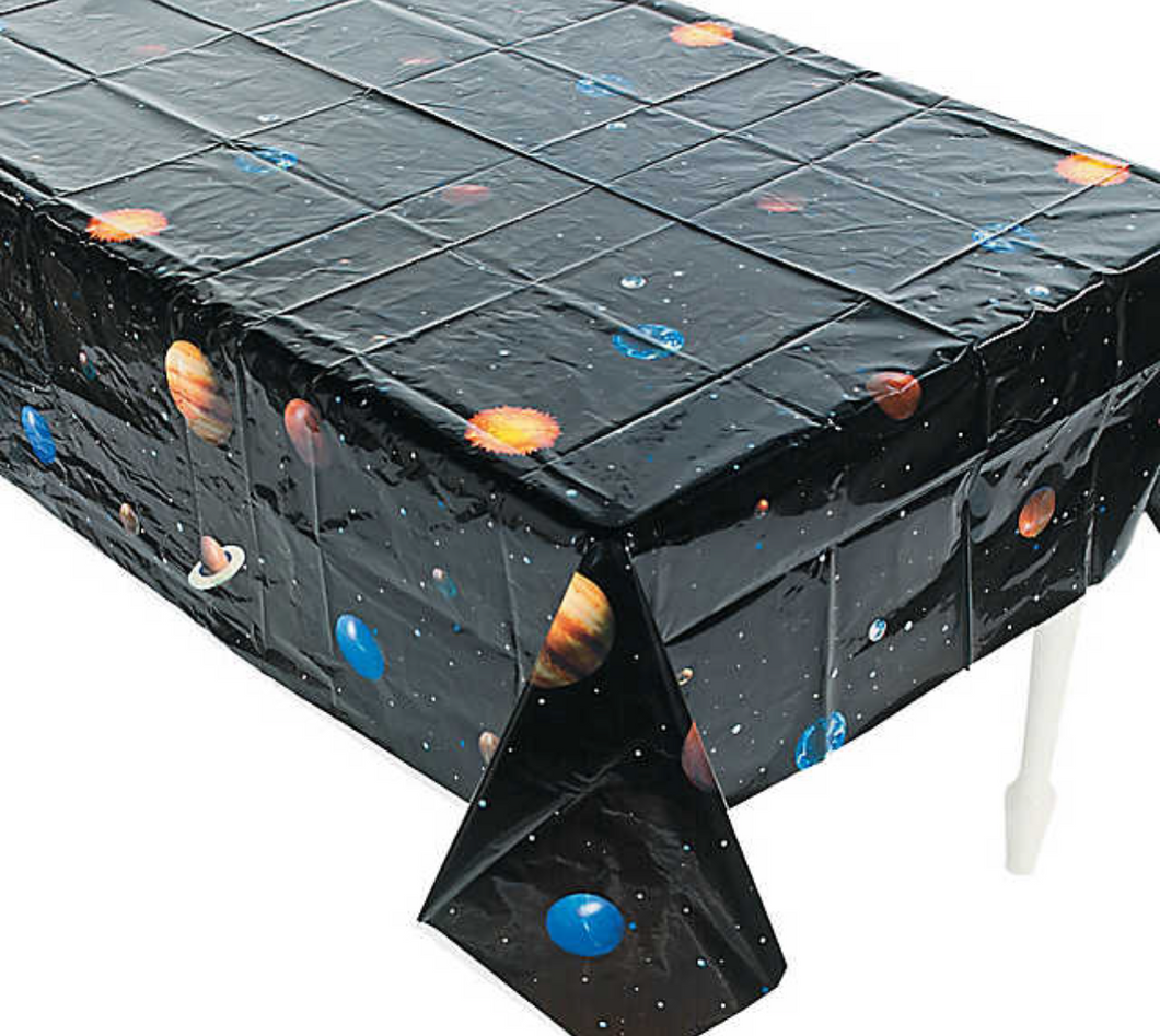 Outer Space Plastic Tablecloth
