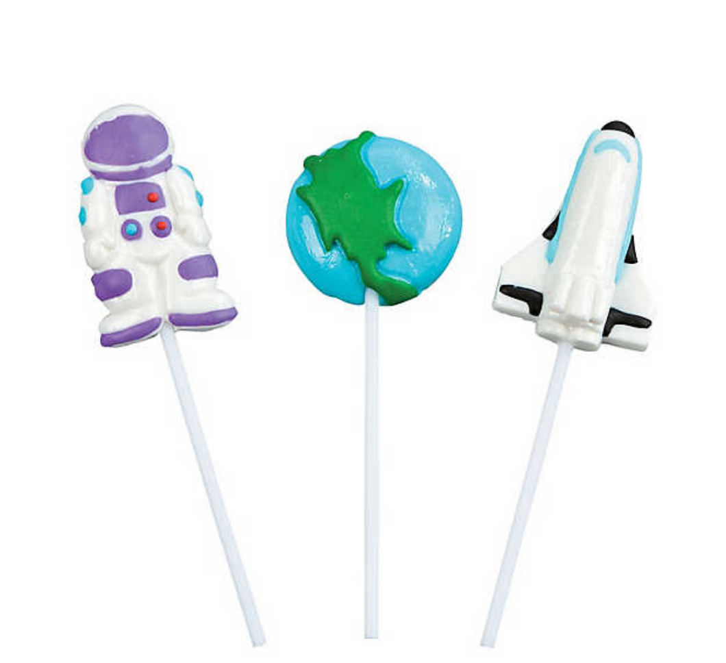 Outer Space Character Lollipops (12 Pack)