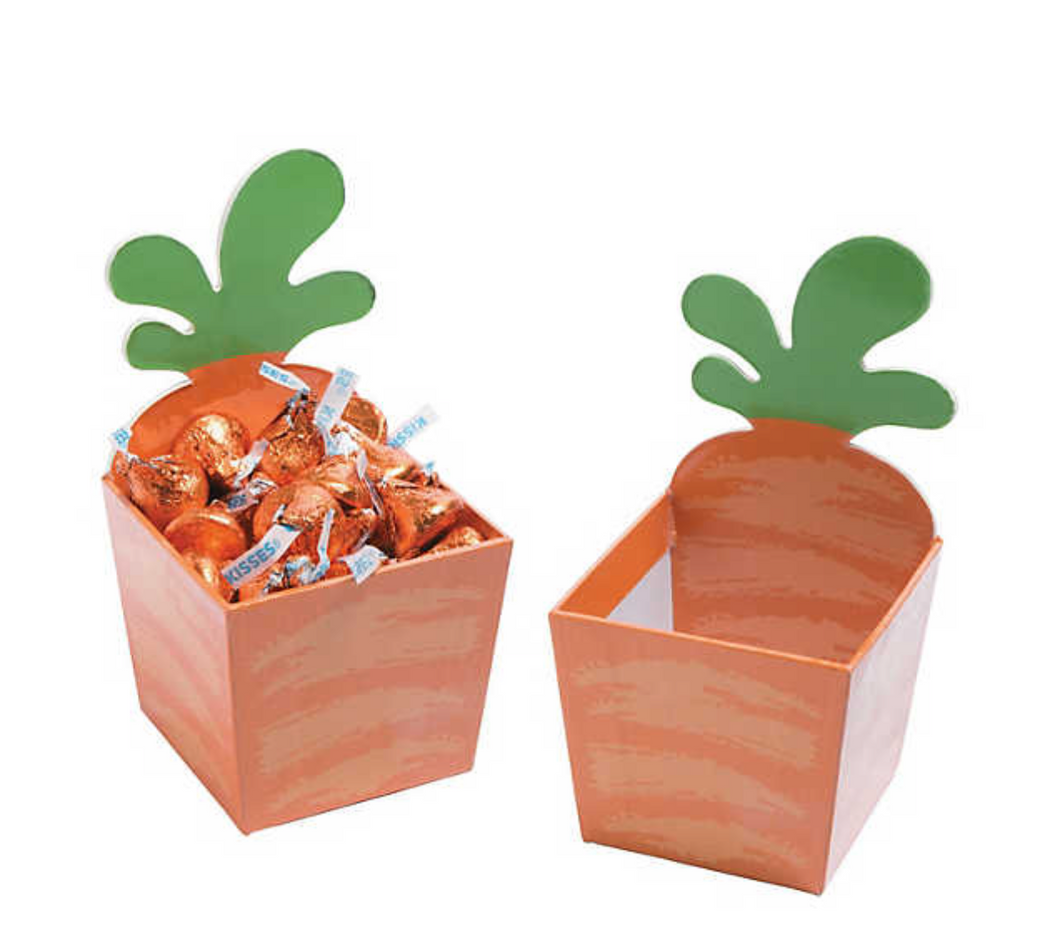 Carrot Cardboard Treat Containers (12 Pack)