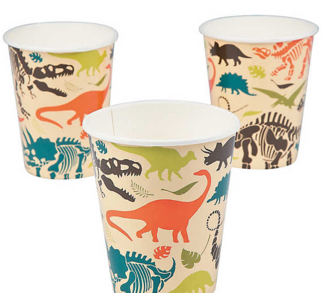 Dinosaur Paper Cups (8 Pack)