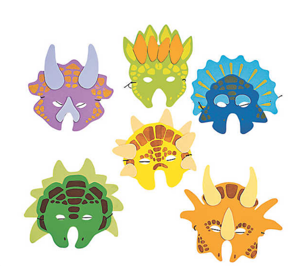 Dinosaur Masks (12 Pack)