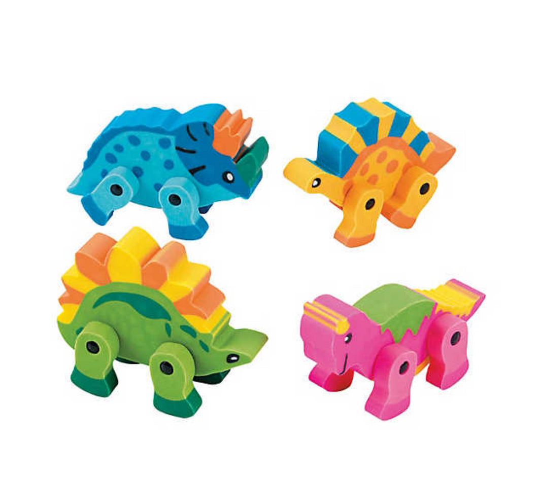 Dinosaur Movable Erasers (12 Pack)