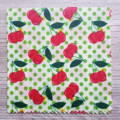 Medium beeswax wrap - Cherries