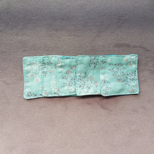 Pale blue flowers cotton facial pads