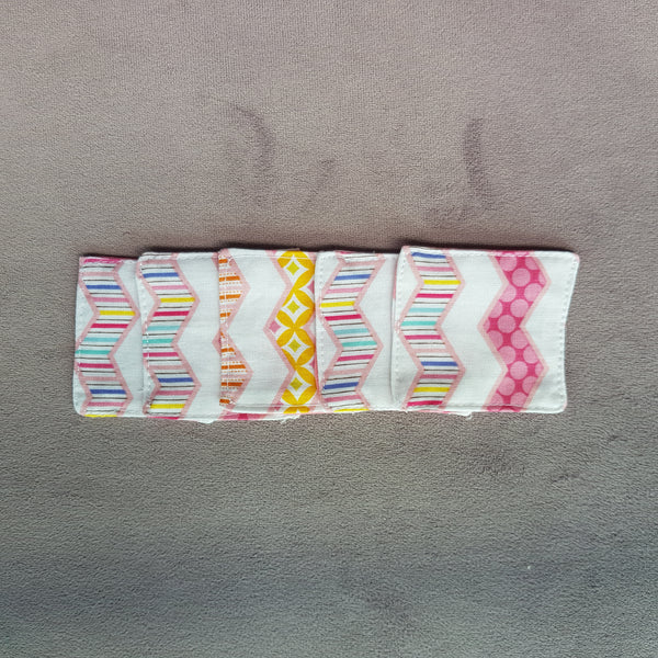 Pink chevron cotton facial pads