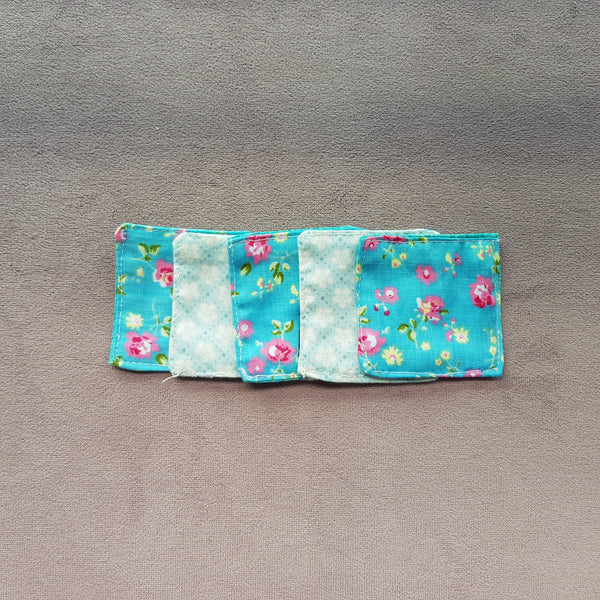 Blue florals cotton facial pads