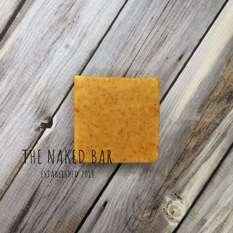 Orange peel bar soap