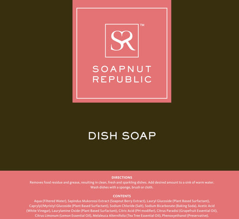 Soapnut Republic - Dish Soap with Grapefruit