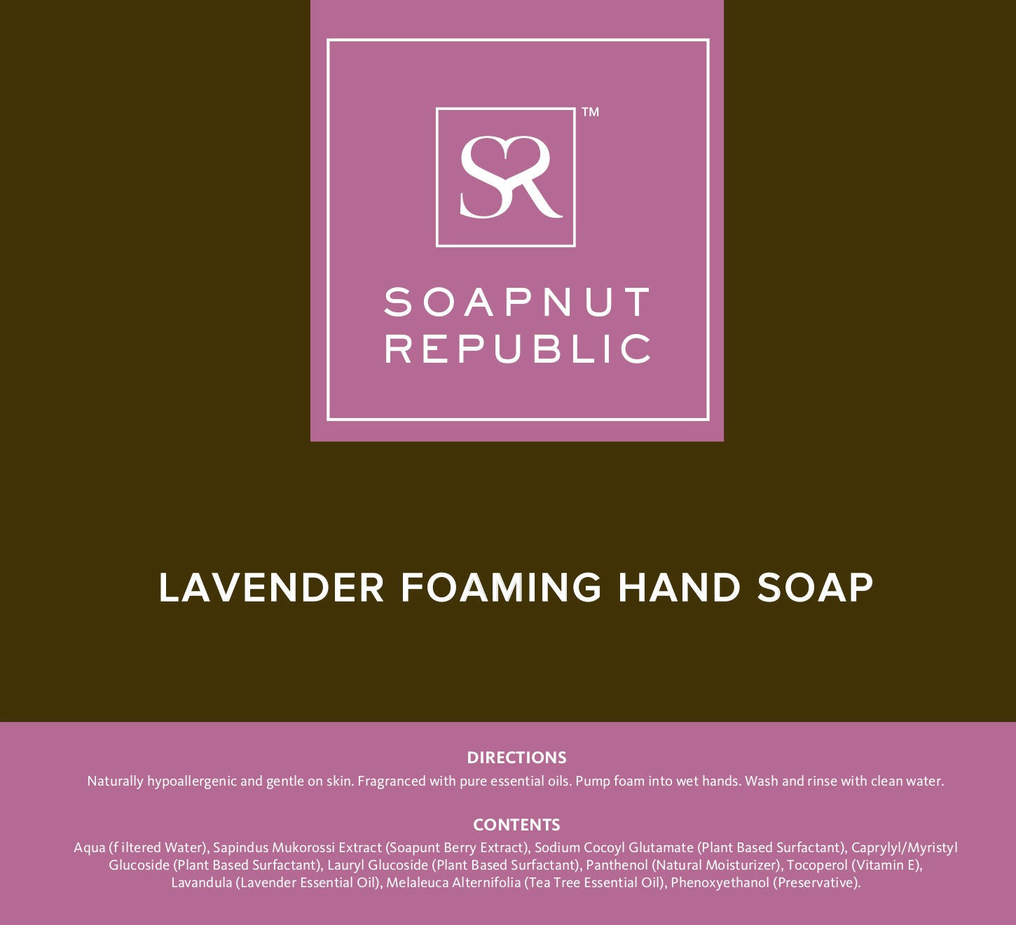 Soapnut Republic - Foaming Hand Soap with Lavender