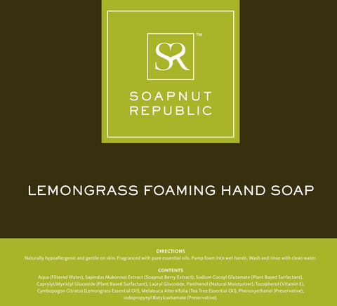 Soapnut Republic - Foaming Hand Soap with Lemongrass