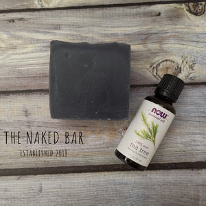 Activated charcoal & tea tree bar soap