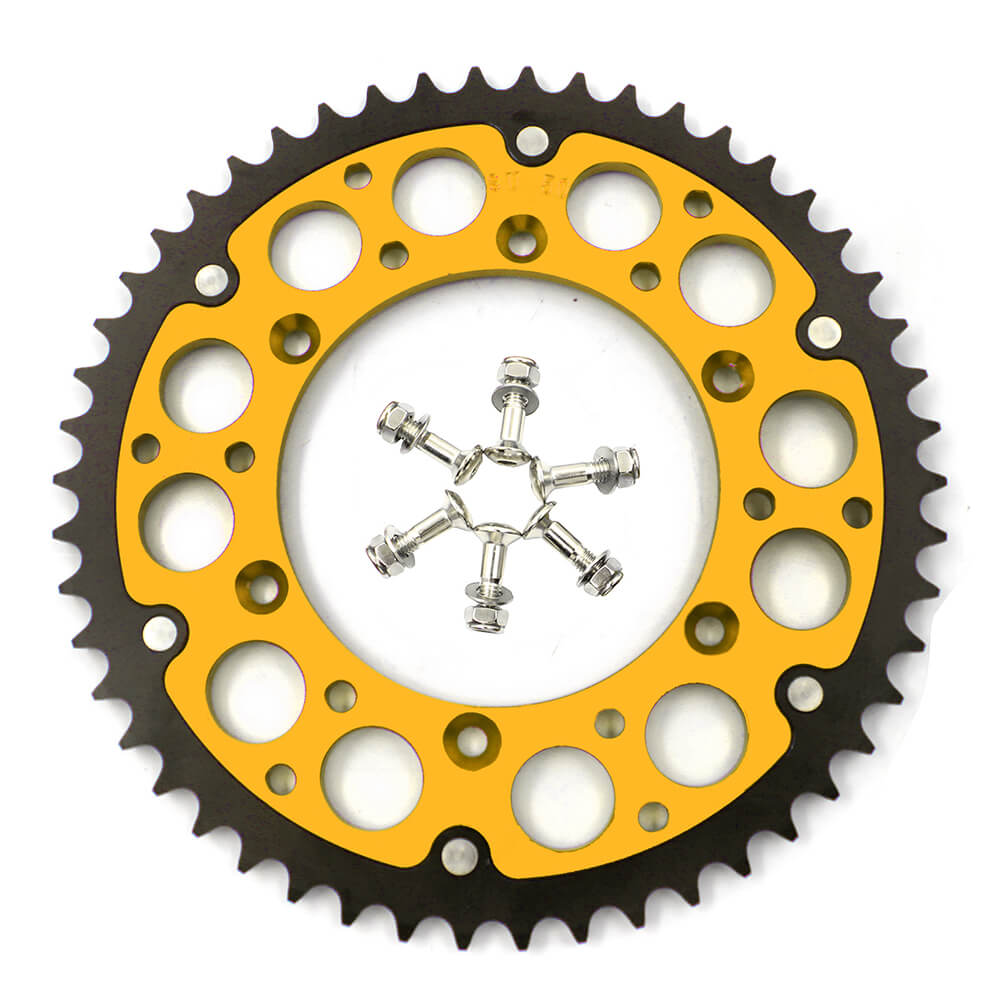KKE 44T/48T/49T/50T/51T GOLD REAR HYBRID SPROCKET FOR SUZUKI RMZ250 RMZ450 RM125/250 DRZ400/400E/400S/400SM - KKE Racing